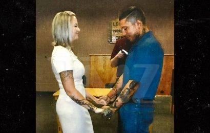 War Machine's Wedding Photos From Prison Ceremony
