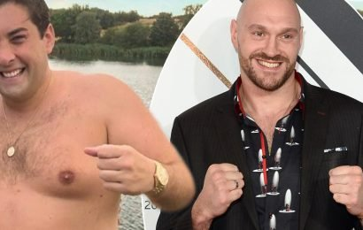 James Argent 'turns to Tommy Fury's boxer brother Tyson to help him lose weight' as he prepares to swim English Channel