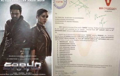 Just In: Six Shows Of Saaho In A Day In AP