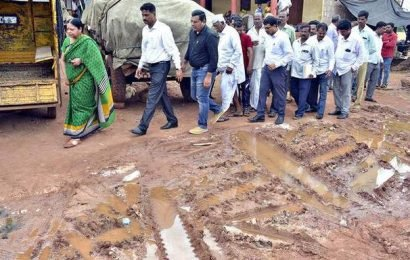 Official inspects damage in Gadag