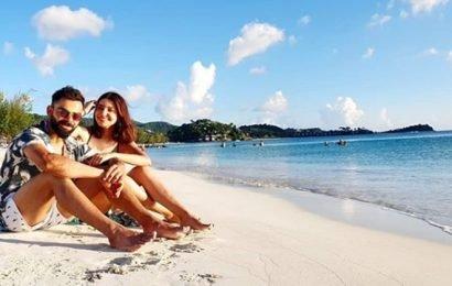 Kohli shares sun-kissed picture with wife Anushka