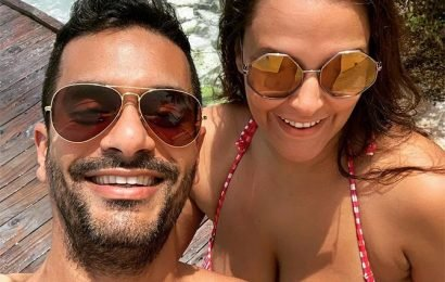 PIX: Neha, Angad holiday in Maldives