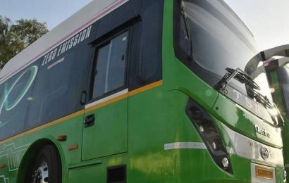 300 electric buses for city