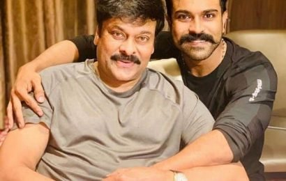 #HBDMegastarChiranjeevi: Ram Charan shares a delightful picture with father Chiranjeevi wishing him on his birthday | Bollywood Life