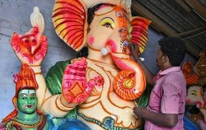 Dip in production and sale of Vinayaka idols in Krishnagiri