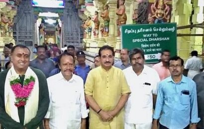 PM's brother visits temples