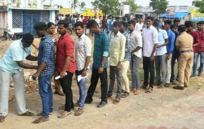 Examination for police recruitment held amid tight security