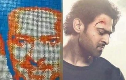 WOW! A die-hard fan of Prabhas builds a picture of the Saaho star using Rubik's cubes | Bollywood Life