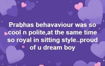 Prabhas is Sri Reddy Dream Boy
