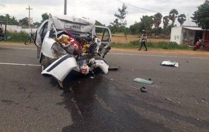 5 die in multiple car collision on highway near Pudukottai