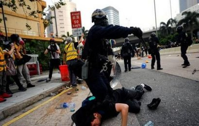 Hong Kong police fire tear gas to break up anti-government protests