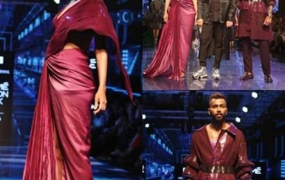LFW 2019: Days after announcing her pregnancy, Lisa Haydon walks the ramp with Hardik Pandya – watch video | Bollywood Life
