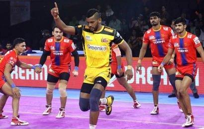 Telugu Titans and UP Yoddha match ends in unusual tie, U Mumba claim big win