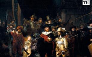 Rembrandt's Night Watch undergoes live restoration