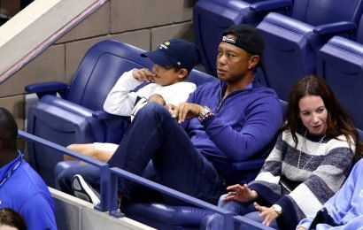 Tiger Woods made a rare public appearance with girlfriend Erica Herman at the US Open