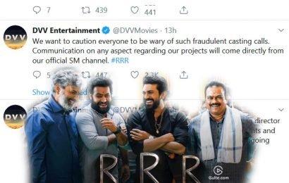 Beware Of RRR Fake Casting Calls
