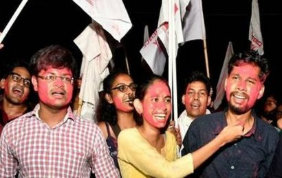 United Left candidates sweep JNUSU elections once again