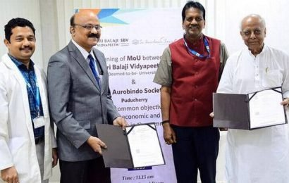 Sri Balaji Vidyapeeth signs MoU with Sri Aurobindo Society
