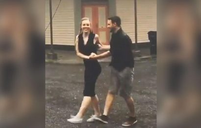Couple dance in pouring rain, TikTok video makes Twitter emotional