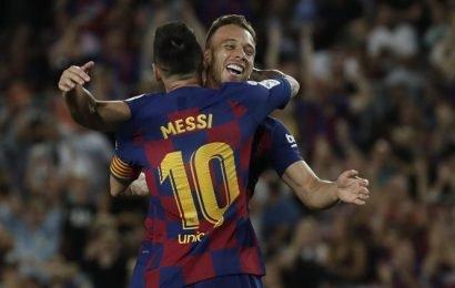 Arthur's rocket helps Barcelona beat Villarreal as Lionel Messi limps off