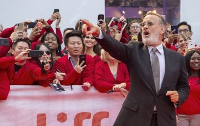 Would you be mine? Tom Hanks unveils his Mr Rogers at festival