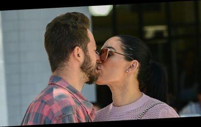 Nikki Bella & Artem Chigvintsev Share a Kiss During Lunch Date