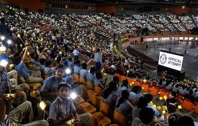 Gandhi@150: Students offer amazing solar lamp tribute!