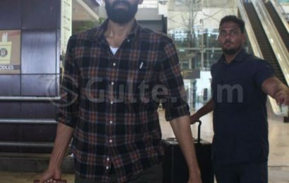 First Pics: Rana Lands In Hyd, Retains The Lean Look