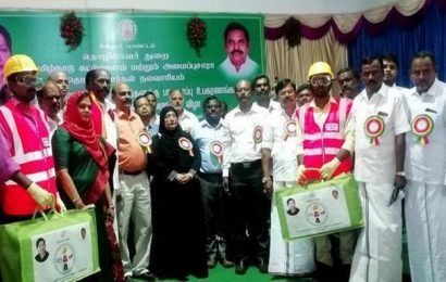 Vellore construction workers get safety kits, financial assistance
