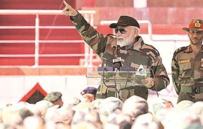 PM Modi celebrates Diwali with soldiers at Rajouri, Poonch