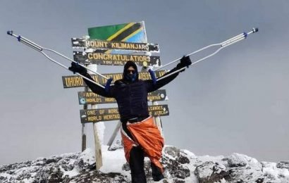 Differently-abled man from Aluva scales Mount Kilimanjaro