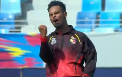 PNG players celebrate T20I World Cup qualification in stadium's terraces; Cricket fraternity congratulates