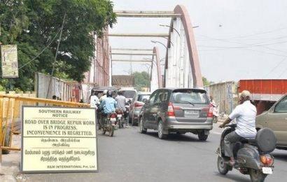 Revamp of Katpadi rail overbridge begins