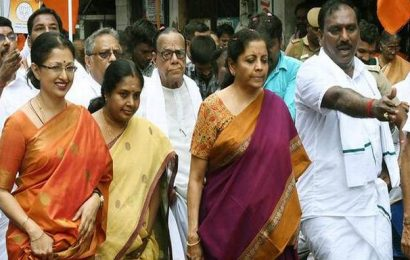 Nirmala Sitharaman leads Gandhi Sankalp Yatra in Chennai