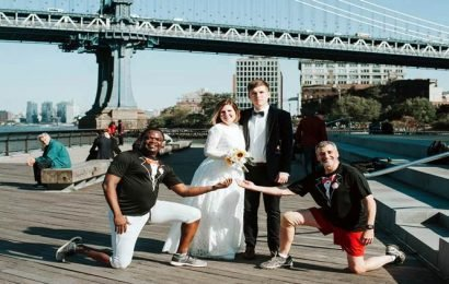 Running to the wedding, any wedding