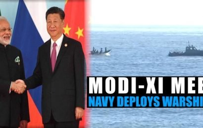 Watch l Modi-Xi meet: Indian Navy deploys warships at Mamallapuram seashore
