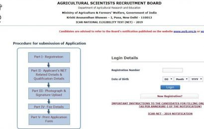 ICAR NET 2019: Application process begins at icar.org.in, here's how to apply