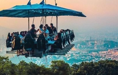 Noida  restaurant serves food, adventure up in the air.Are you game?