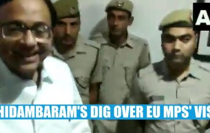 Watch:'EU MPs may be invited to Parliament…': Chidambaram mocks Centre