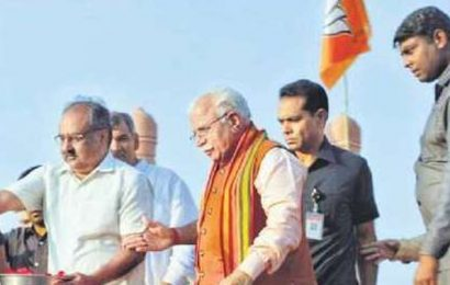 Haryana BJP's poster boy Manohar Lal Khattar leads poll charge from front