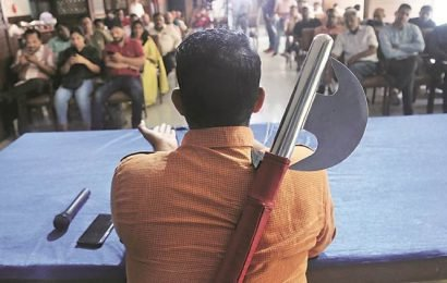 Haryana AAP chief to carry axe during poll campaign