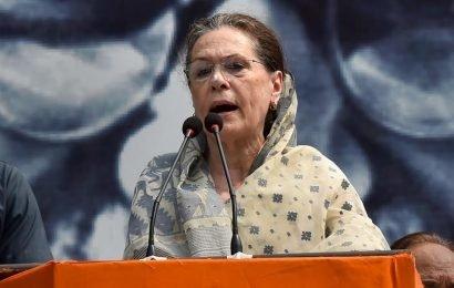 BJP govt misleading farmers, says Sonia Gandhi