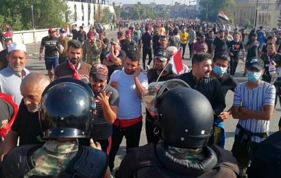 Iraqi protesters flood Baghdad square despite violent crackdown