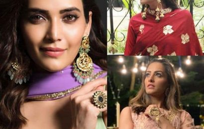 Diwali 2019: Let Anita Hassanandani, Karishma Tanna, Nimrit Kaur show you how to shimmer and sparkle with their jewellery | Bollywood Life
