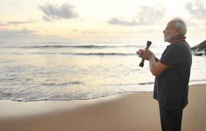PM Modi reveals the stick-like object he was carrying while plogging at Mamallapuram beach