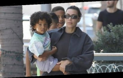 Kim Kardashian Scares The Heck Out Of Her Son Saint, 3, By Using Creepy Spider Phone Filter