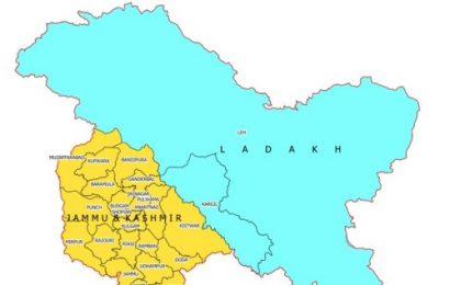 Govt releases new map showing UTs of J-K, Ladakh