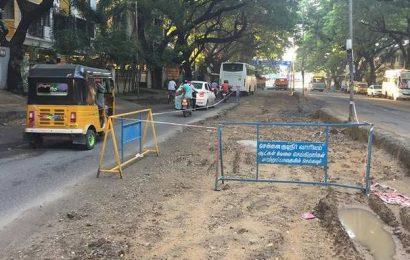 Is East Avenue Road made of mud and slush?