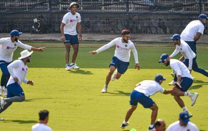 PIX: Kohli & Co take pink ball throwdowns in between red ball nets