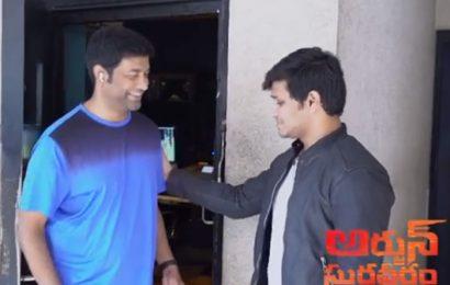 Arjun Suravaram's witty promo